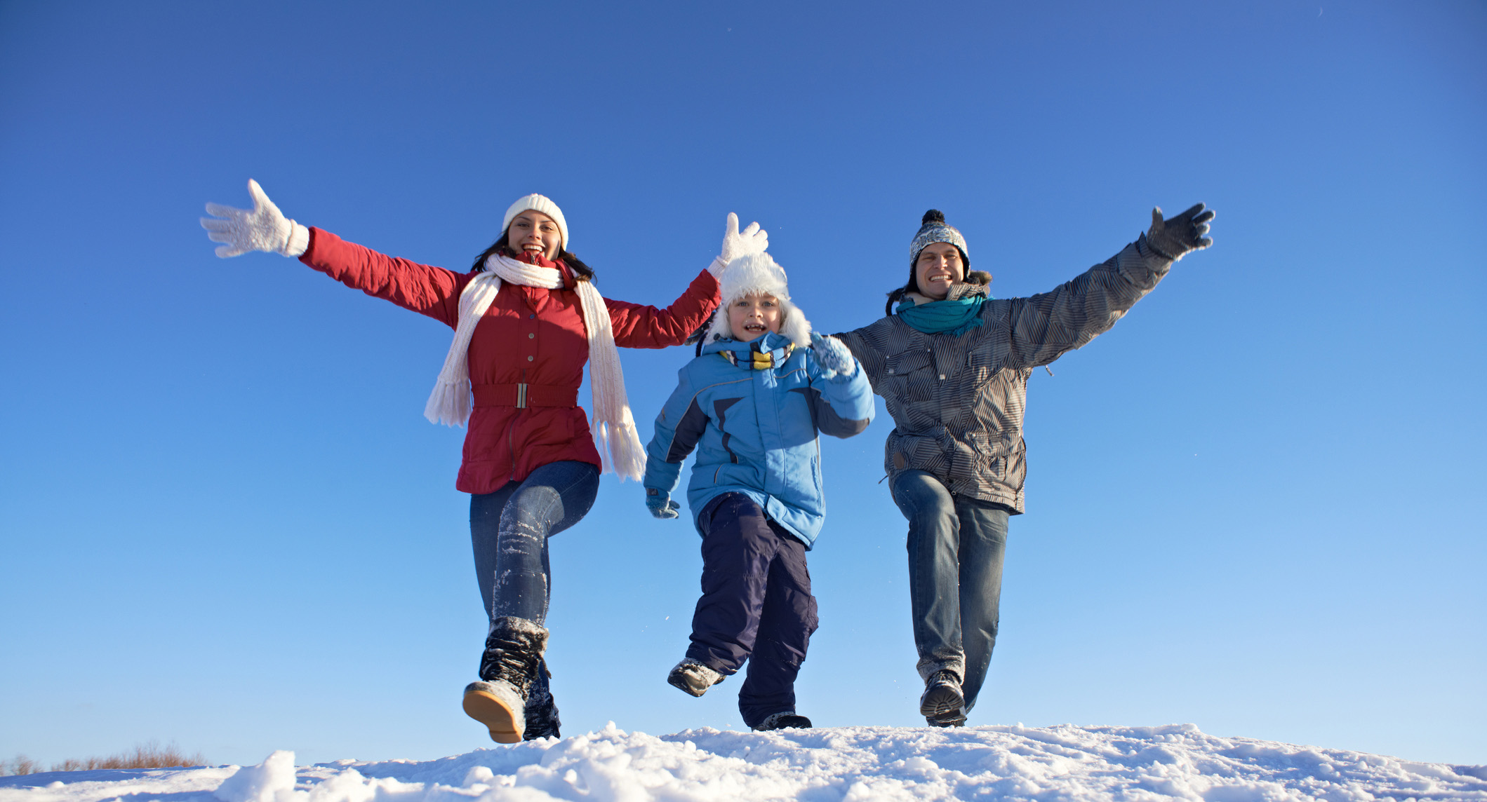 Excited winter vacations